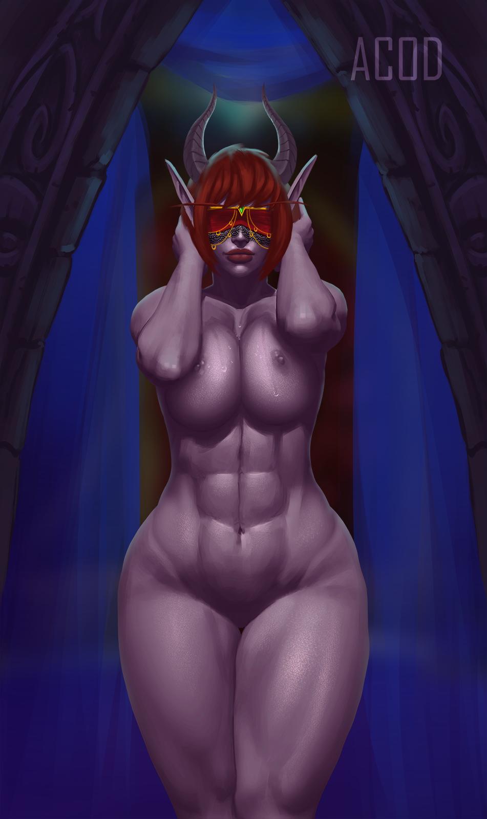 elf demon blood female hunter Final fantasy brave exvius amelia