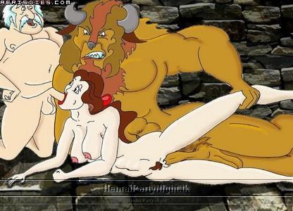 and the beauty beast genderbend Futa on futa
