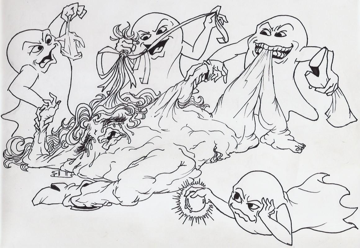 ghosts by animation pac-man minus8 Arakawa under the bridge kiss